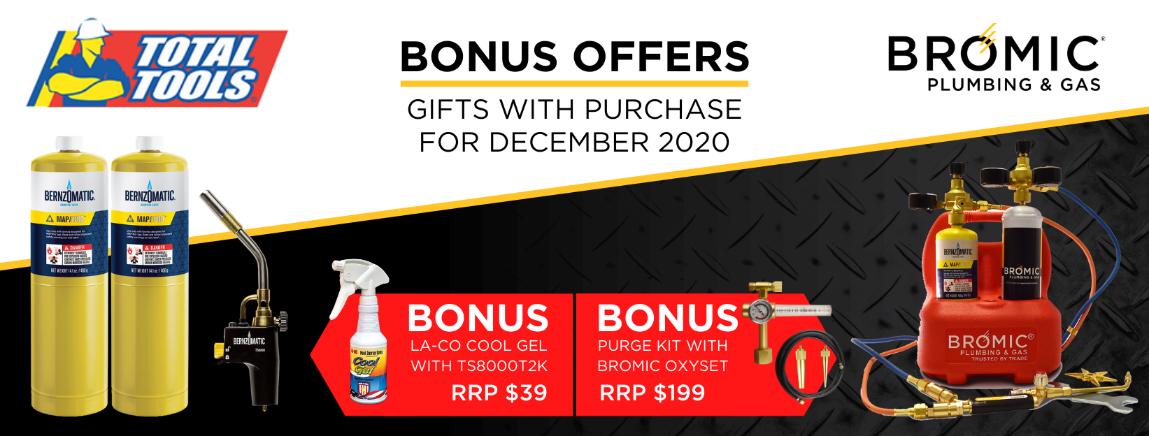 Total Tools Bromic Gift With Purchase Promotions Dec